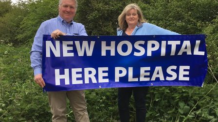 Hemel Hempstead MP Mike Penning and St Albans MP Anne Main on the Crown Estate land near Redbourn.
