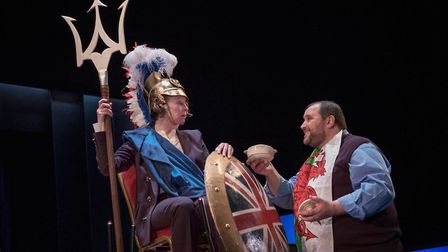 Penny Layden as Britania and Christian Patterson as Cymru in My Country