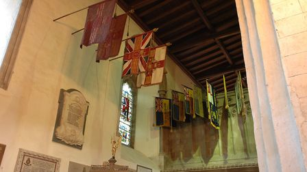 Cathedral war memorial banners