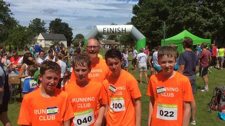 Melbourn Village College runners completed the 5km race in Thriplow at the weekend. Picture: MVC