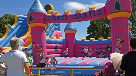 A bouncy castle proved popular at the Riverside Gala.