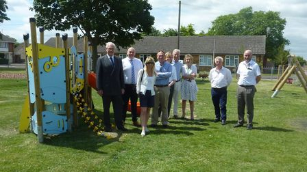 The opening ceremony for the new Serby Avenue play area.