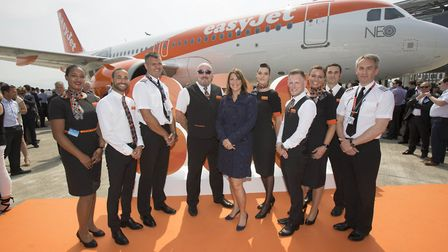 EasyJet takes delivery of its first LEAP powered Airbus A320 NEO its 300th delivery@Airbus Toulouse