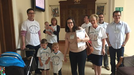 Round House campaigners present their petition to the county council