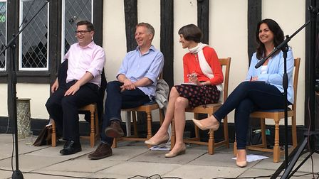 The candidates were all getting on well at the hustings event.