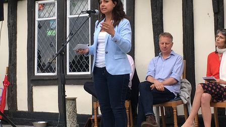 Heidi Allen answering audience questions.