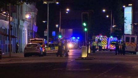 Seven people were killed and at least 48 injured in last night's terror attacks in London. Picture: