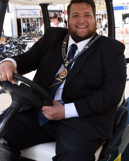 The mayor of St Ives, Councillor Phil Pope.