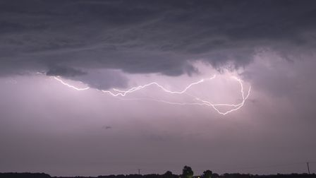 A photo of lightning, captured by Roger Skillin