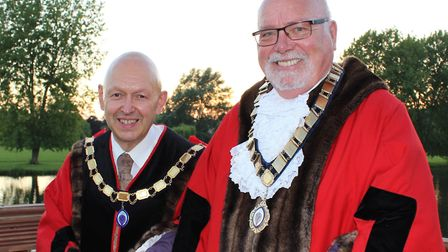 Cllr Derek Giles (right) is the new mayor and Cllr Charles Bober was elected deputy.