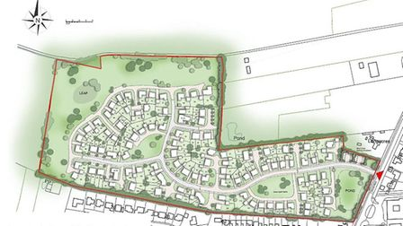 A bird's eye view of the proposed site in Bluntisham.