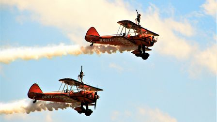 The Breitling Wingwalkers put on a show. Picture: Clive Porter