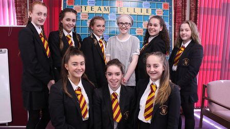 Team Ellie pictured with Ellie (back row, middle).