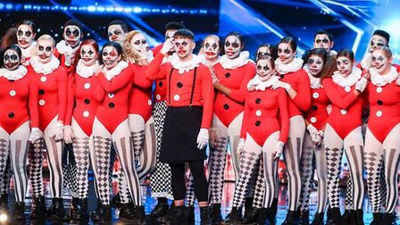 Jac Coxall, centre, with the TNG dancers on Britain's Got Talent. Picture: Thames/Syco/Dymond