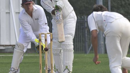 Navid Ahmed helped Huntingdon & District back to the top of Whiting & Partners Division Two.