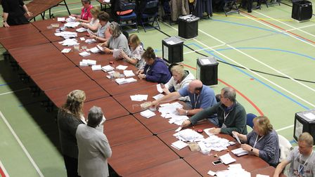 Count is underway for the general election 2017 at One Leisure, St Ives.