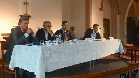 General election candidates took place at a hustings in St Ives Methodist Church