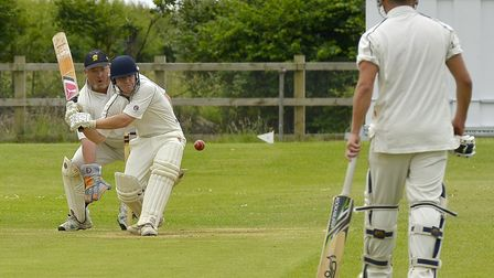 Glyn Smith featured in a century opening stand for Sawtry against Ramsey 3rds. Picture: DUNCAN LAMON
