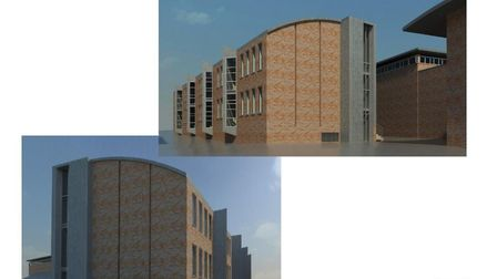 The original plans for the new St Albans School mathematics faculty. Image provided by pHp Architect