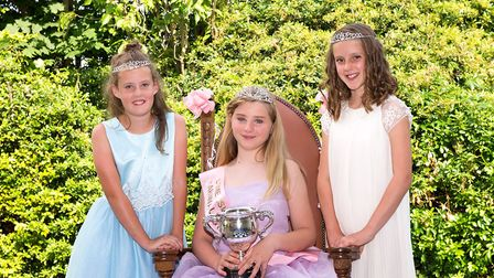 Hollie Checkley, centre, with Sophie Kimpton, left, and Hattie Bird. Picture: JLC photography Ltd.
