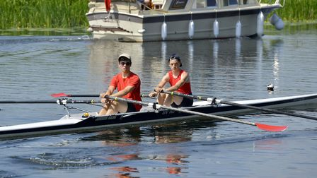St Ives pair Rory Crouch and Sam Hasted on their way to victory. Picture: DUNCAN LAMONT