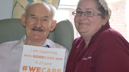 Siouxsie Liddle celebrating Good Care Week. Picture: HERTFORDSHIRE COUNTY COUNCIL