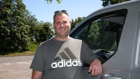 Good samaritan Alan Ciuffa helped a woman change her tyre after spotting her in distress by the side