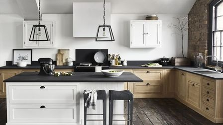 Neptune Henley kitchen from £14,000; Browning Lantern, £250; Shoreditch bar stool from £260, www.nep