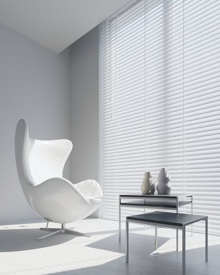 Minimalist Gloss Pure White Wooden Blinds, £26.50, www.englishblinds.co.uk