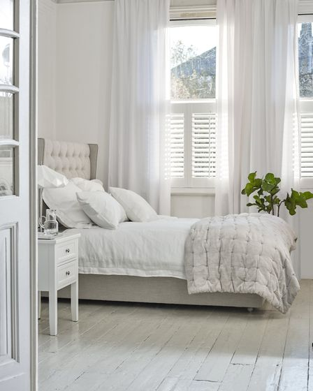 John Lewis Croft Collection 100 per cent linen Oxford pillowcase, £22; Wilton two drawer bedside cab