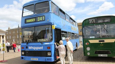 The Whippet bus which has been saved by Eastern Bus Enthusiasts on its first public outing at BusFes