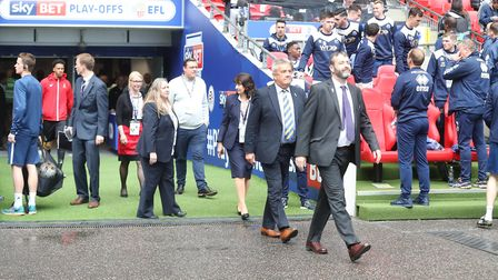 St Albans fundraiser Phill Coates was a guest of honour at Wembley Stadium