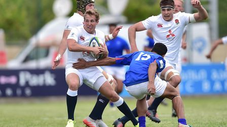 Old Albanian's and Saracens' Max Malins scored one of England's seven first-half tries against Samoa