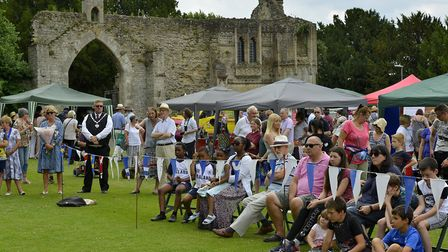 The crowds enjoy the church fete in Ramsey