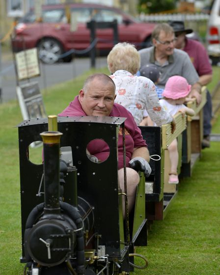 Visitors to the church fete enjoyed train rides.