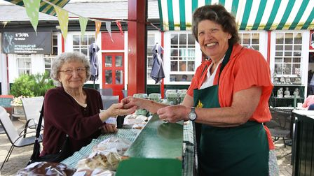 Country Market Stall helper Gina Churchyard serving customers. Picture: Karyn Haddon