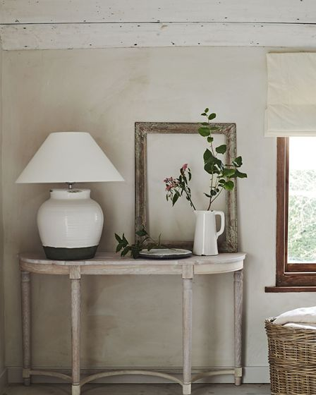 Corinium lampstand, medium, £105; Oliver lampshade, warm white, from £16; furniture from a selection