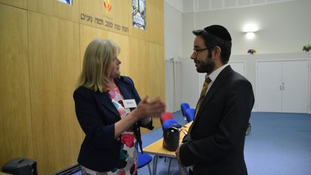 Rabbi Daniel Sturgess, minister of St Albans United Synagogue, in post-hustings discussion with Cons