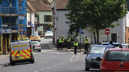There is a major police operation in Royston town centre this afternoon after two unexploded Second