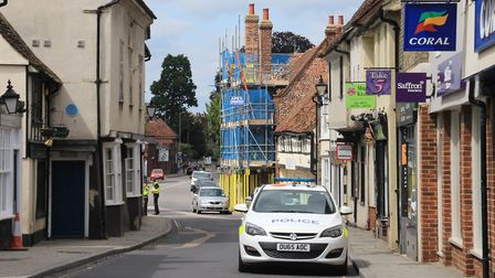 The police are all around Royston town centre this afternoon. Picture: Clive Porter