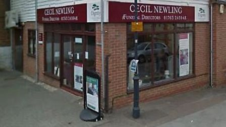 Cecil Newling funeral directors in Royston. Picture: Google Street View