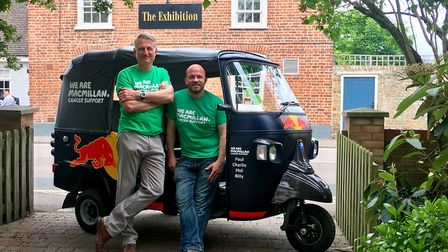 Paul Dyer, the landlord of The Exhibition pub, in Godmanchester, and Phillip Malley, a partner at Ga