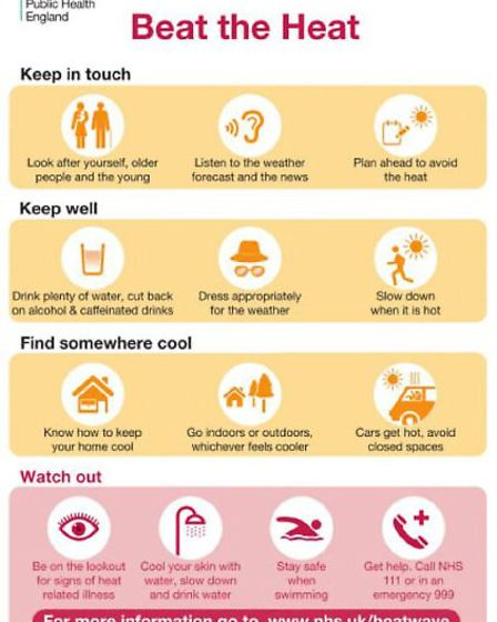 A Herts county council infographic with advice for St Albans people. Photo: Herts county council dep