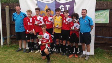 Godmanchester Town Red Under 14s provided a home success at the club's junior tournament.