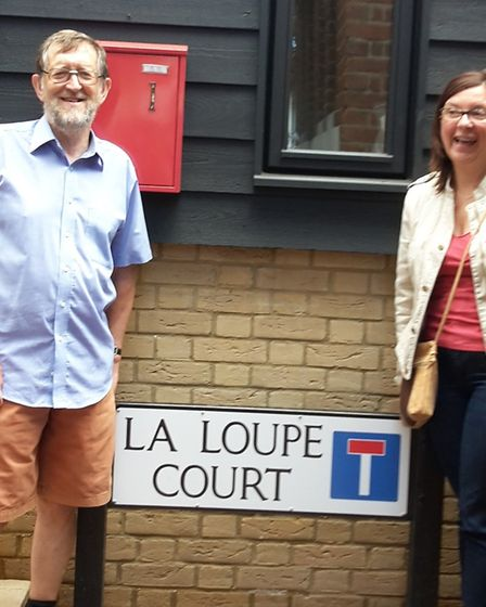 Vice chairman, Keith Ginsberg, and president of La Loupe twinning committee, Sophie Lereau, in front
