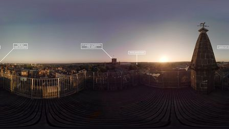 The panoramic view of St Albans. Photo: REWIND