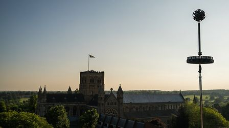 The Go-Pro cameras used to capture the view from the top of St Albans clock tower. Photo: REWIND