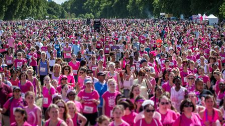 2015 Race for Life held at Hyde Park, London. Picture: Liam McAvoy