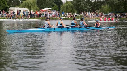 A St Neots Rowing Club crew in action during the 2016 regatta. Picture: SAMMI SPARKE PHOTOGRAPHY