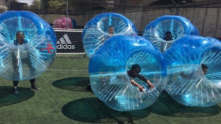 Neville Wears Prada have become England's first international bubble football team